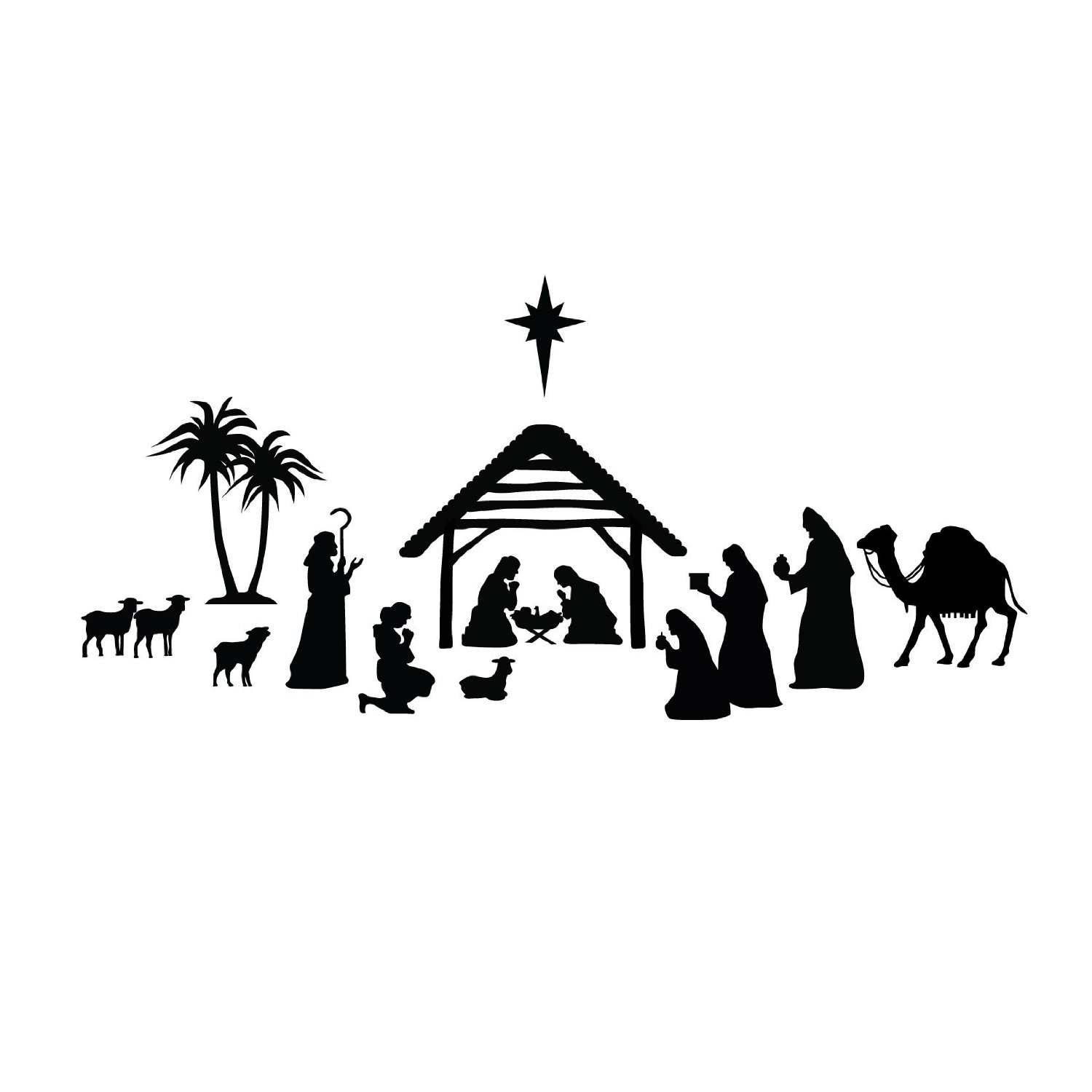 Simple Nativity Scene Silhouette December 2014 fellowship church